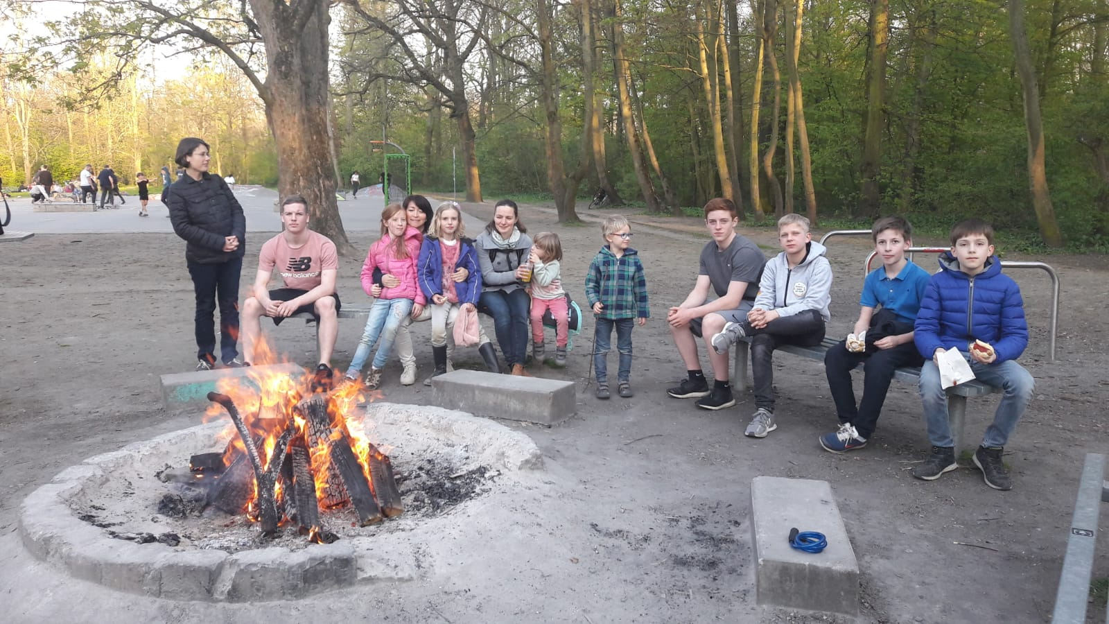 JCL Osterfeuer im Clara-Zetkin-Park